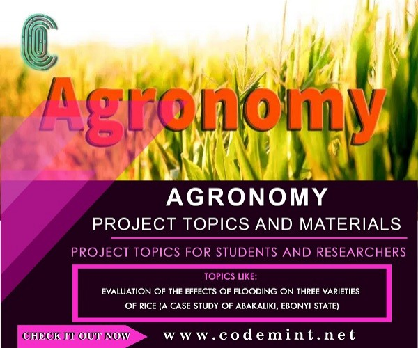 AGRONOMY Research Topics