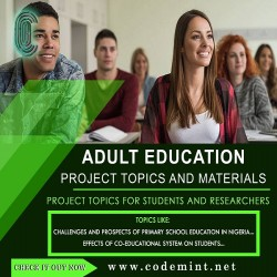 ADULT EDUCATION Research Topics