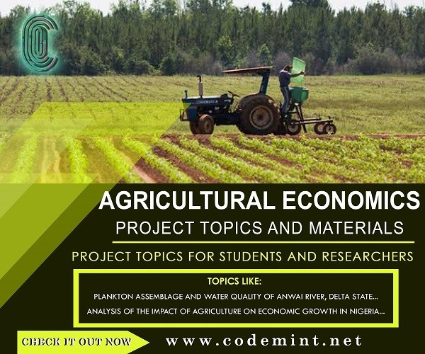 AGRICULTURAL ECONOMICS Research Topics