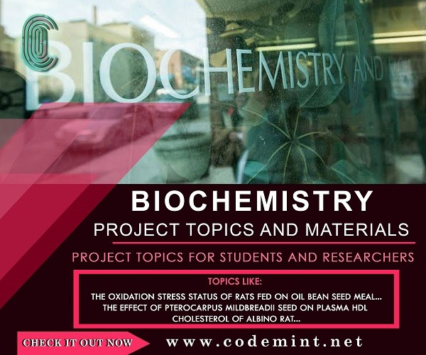 BIOCHEMISTRY Research Topics