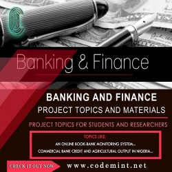 BANKING  FINANCE Research Topics