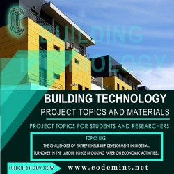 BUILDING TECHNOLOGY Research Topics