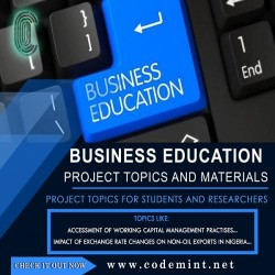 BUSINESS EDUCATION Research Topics
