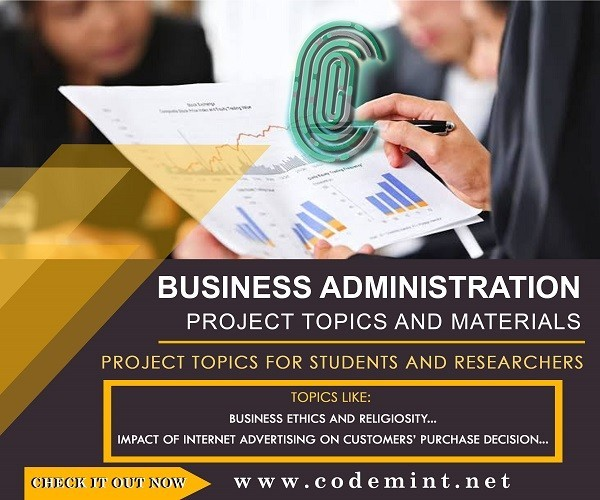BUSINESS ADMINISTRATION Research Topics