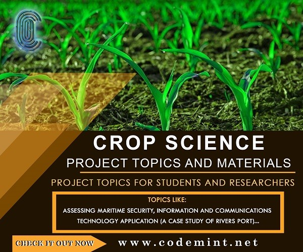 CROP SCIENCE Research Topics