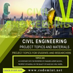 CIVIL ENGINEERING Research Topics
