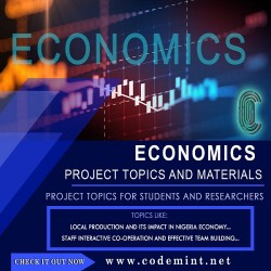 ECONOMICS Research Topics