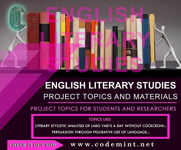 ENGLISH  LITERARY STUDIES Research Topics