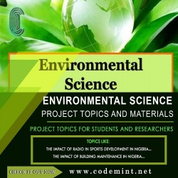 ENVIRONMENTAL SCIENCE Research Topics