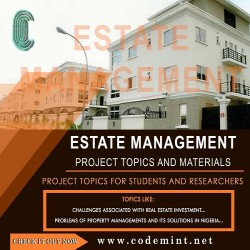ESTATE MANAGEMENT Research Topics
