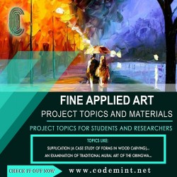 FINE  APPLIED ARTS Research Topics