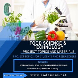 FOOD SCIENCE & TECHNOLOGY Research Topics