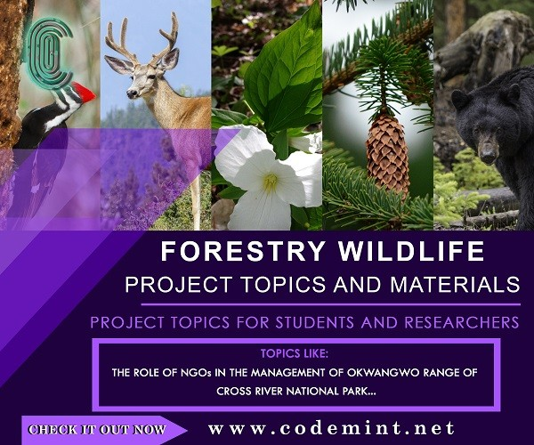 FORESTRY  WILDLIFE Research Topics