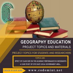 GEOGRAPHY EDUCATION Research Topics