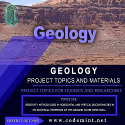 GEOLOGY Research Topics