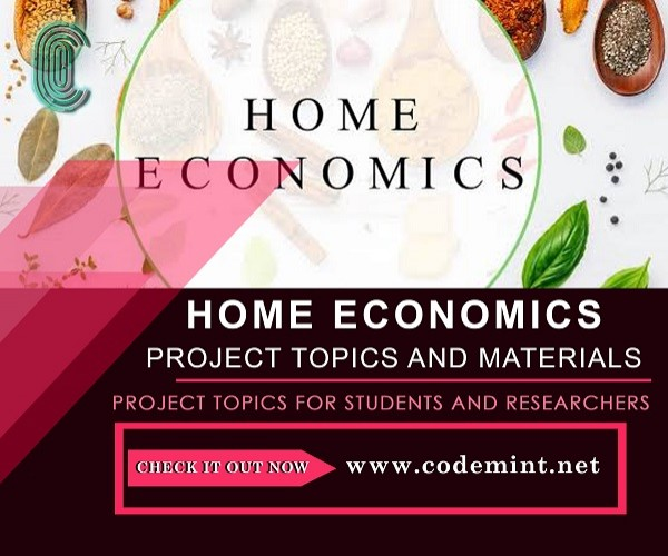 HOME ECONOMICS Research Topics