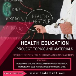 HEALTH EDUCATION Research Topics