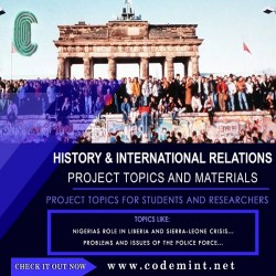 HISTORY & INTERNATIONAL RELATIONS Research Topics