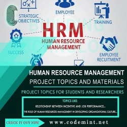 HUMAN RESOURCE MANAGEMENT Research Topics