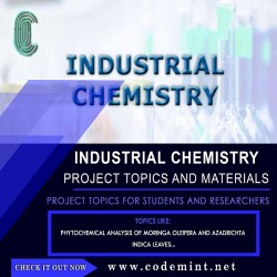 INDUSTRIAL CHEMISTRY Research Topics
