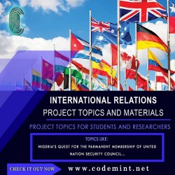 INTERNATIONAL RELATIONS Research Topics