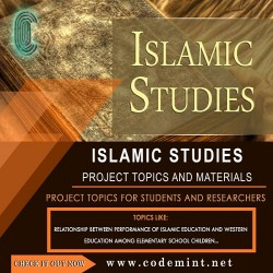 ISLAMIC STUDIES Research Topics