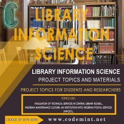 LIBRARY  INFORMATION SCIENCE Research Topics