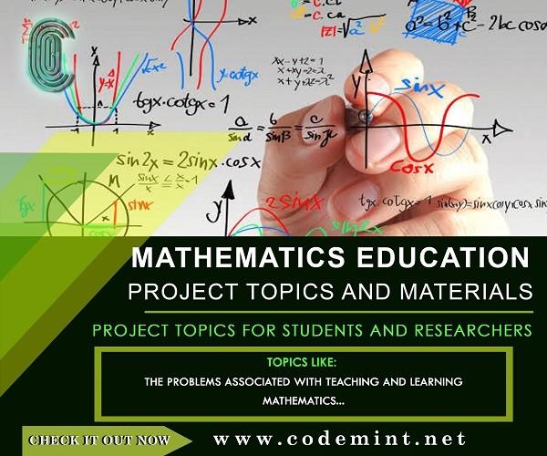 MATHEMATICS EDUCATION Research Topics