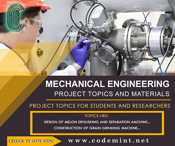 MECHANICAL ENGINEERING Research Topics