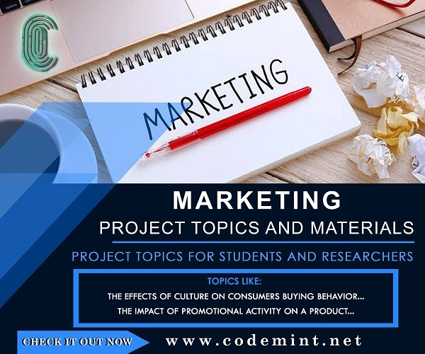 project topic for marketing student