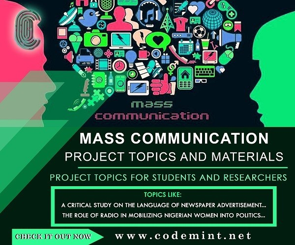 MASS COMMUNICATION Research Topics