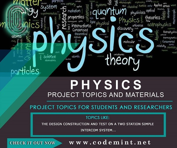 PHYSICS Research Topics
