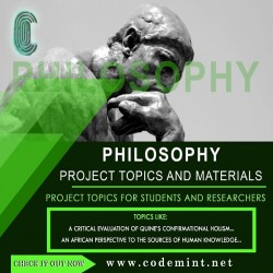 PHILOSOPHY Research Topics