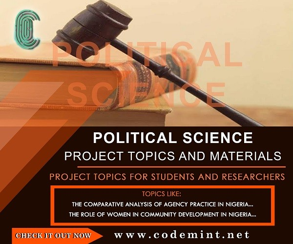 Political Science Final Year Research Project Topics - Free Project