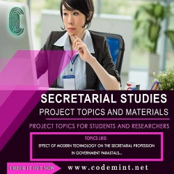 SECRETARIAL STUDIES Research Topics