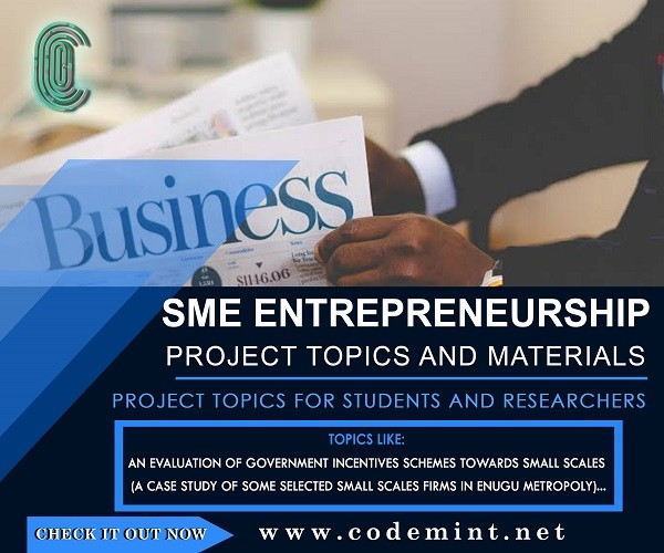SME/ENTREPRENEURSHIP Research Topics