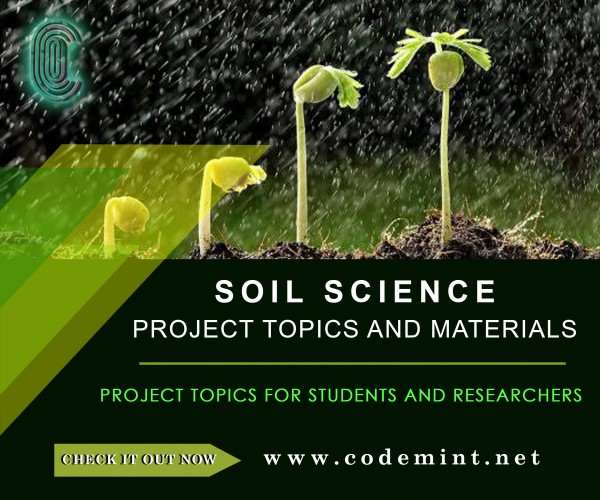 SOIL SCIENCE Research Topics