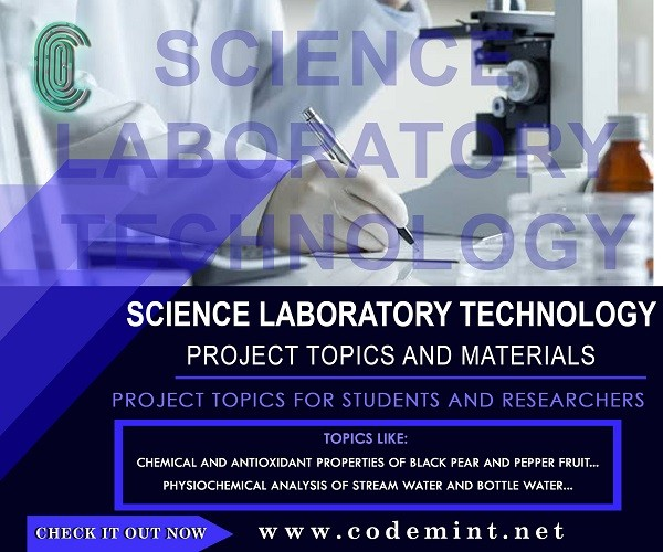 SCIENCE LAB TECHNOLOGY Research Topics