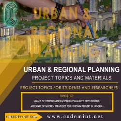 URBAN & REGIONAL PLANNING Research Topics