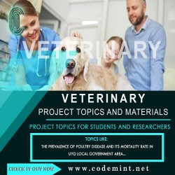VETERINARY Research Topics