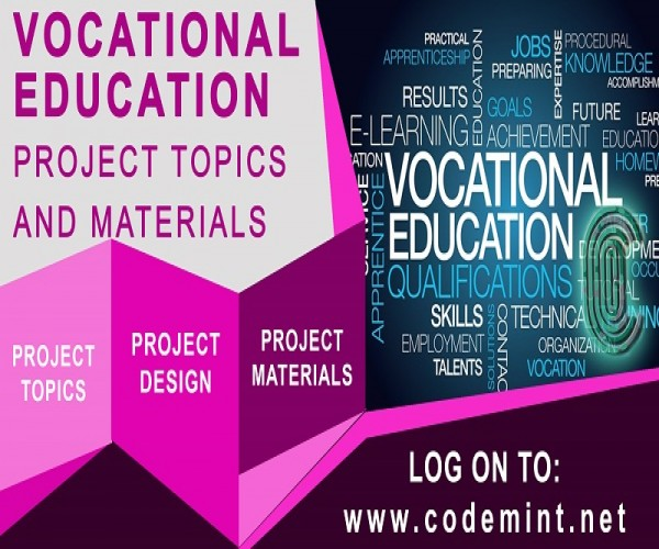 VOCATIONAL EDUCATION Research Topics