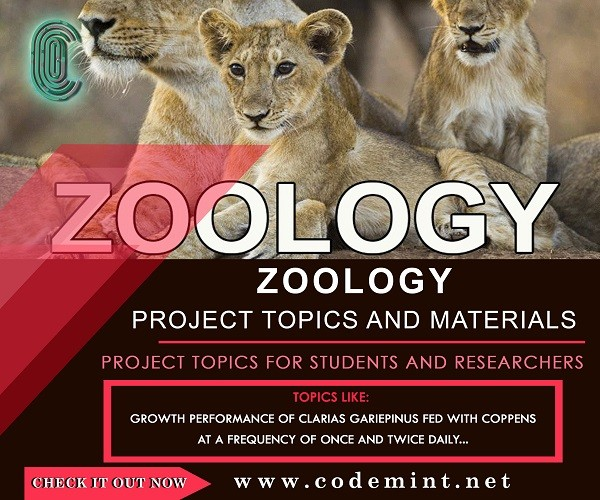 ZOOLOGY Research Topics