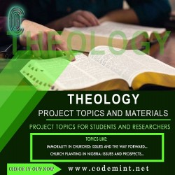 THEOLOGY Research Topics