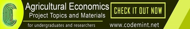 agricultural economics research topics