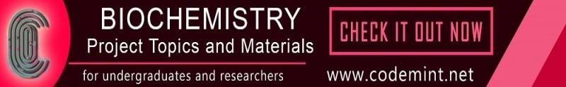 BIOCHEMISTRY Projects Topics