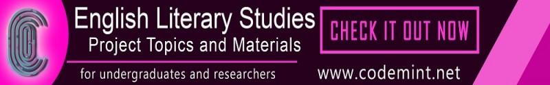 ENGLISH  LITERARY STUDIES Projects Topics