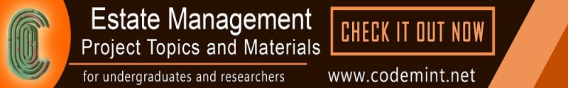 ESTATE MANAGEMENT Projects Topics