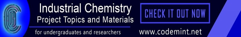 INDUSTRIAL CHEMISTRY Projects Topics