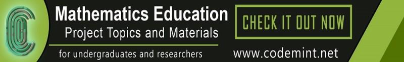 MATHEMATICS EDUCATION Projects Topics