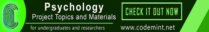 PSYCHOLOGY Projects Topics